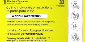 Inviting Applications For The Unesco Bangkoks Wenhui Award 2020