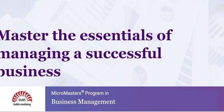 Iimb Micromasters Program In Business Management