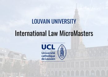 Louvainx'S Micromasters Program In International Law