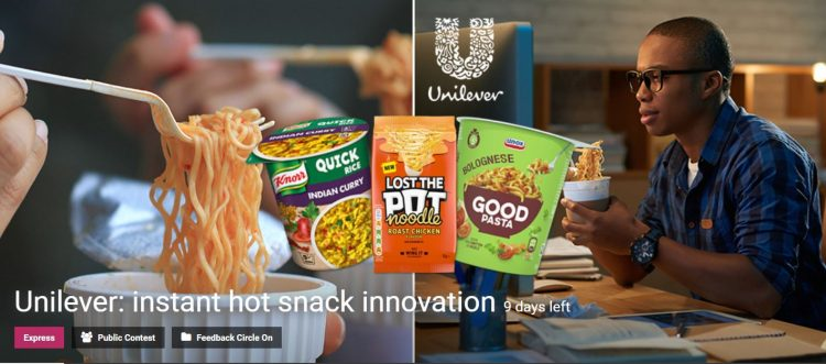 Unilever Instant Hot Snack Innovation Competition
