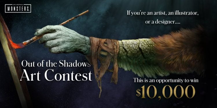 Universal Monsters Out Of The Shadows Art Contest