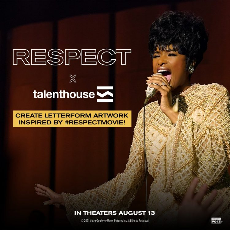 Create Unique Letterform Artwork Inspired by the Upcoming Biopic RESPECT - USA Only
