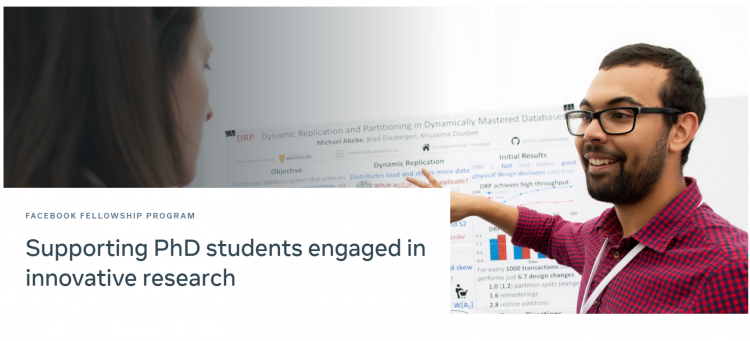 Facebook Fellowship Program for PhD Researchers 2021