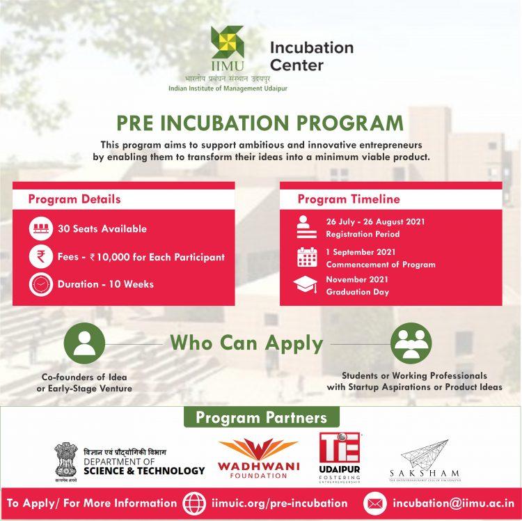 IIMU Pre-Incubation Program