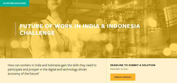 The Caterpillar Foundation MIT Solve Future Of Work In India & Indonesia Challenge