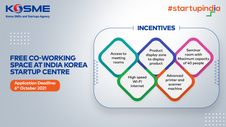 Free Co-Working Space at India-Korea Startup Center