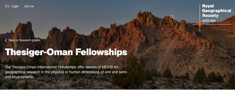 Thesiger-Oman Fellowships